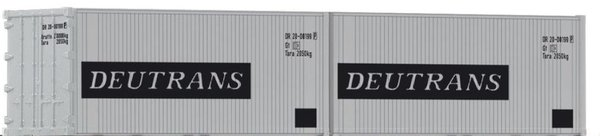 Piko 46102, 2er Set 20' Container - Deutrans / TT